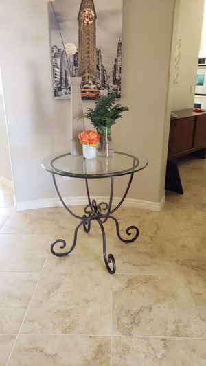Glass and metal/iron table. for Sale in San Marcos, CA