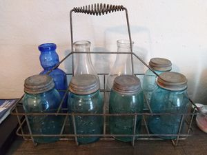 Antique milk crate and bottles. for Sale in Denison, TX