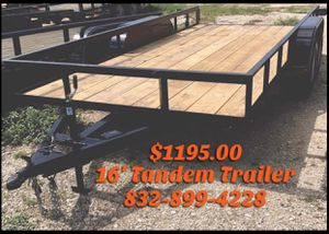 16x76 Utility Trailer for Sale - Trailers For Sale for Sale in Houston, TX