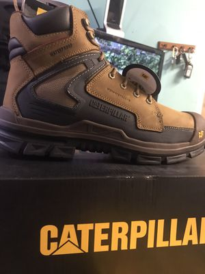 Work boots// CAT Chassis Waterproof Composite Toe Work Boot P90845//size (13)Dark Beige for Sale in Chicago, IL