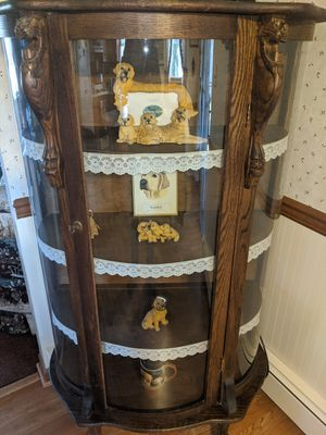 Antique curved glass China closet for Sale in Milton, PA