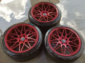 """KLUTCH WHEELS KM20 19"""" INCH AFTERMARKET WHEELS RIMS WITH TIRES for Sale in Fort Lauderdale, FL"""