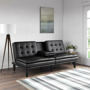 Dhp Memory Foam Faux Leather PillowTop Futon w/Cupholders New in Box for Sale in Las Vegas, NV