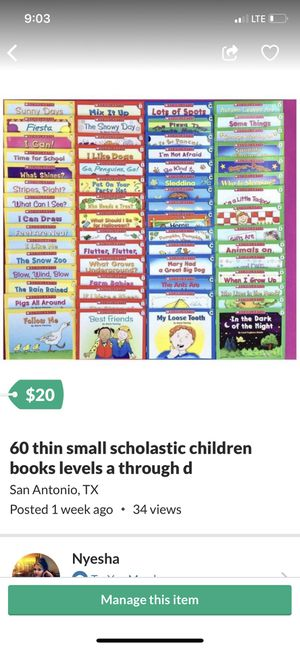 60 books small thin kids educational for Sale in San Antonio, TX