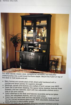 Pottery barn graham desk and hutch for Sale in Solana Beach, CA