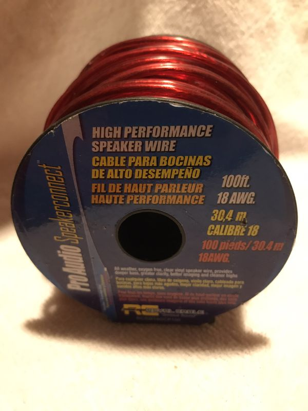 Pro Audio - High Performance Speaker Wire 100' / 18 gauge