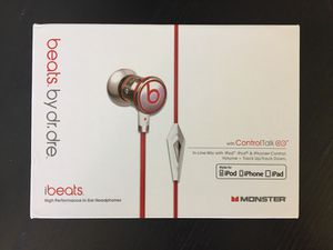 iBeats in-ear headphones with mic - Beats by Dr Dre for Sale in East Liberty, PA