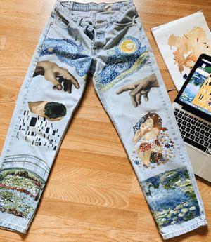 Handpainted artwork pants for Sale in Vista, CA