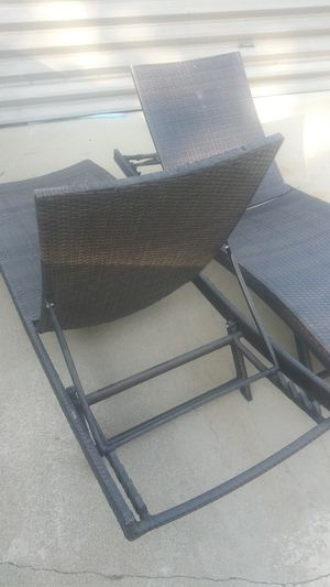 Wicker pool loungers for Sale in Ontario, CA