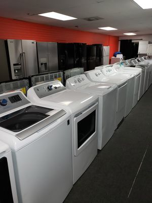 GE new scratch and dent electric top load set washer and dryer 6months warranty for Sale in McDonogh, MD