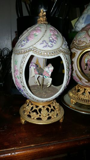 The Franklin mint carousel faberge egg music box for Sale for sale  Porter, TX
