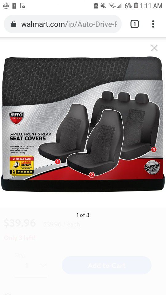 Front and rear seat covers