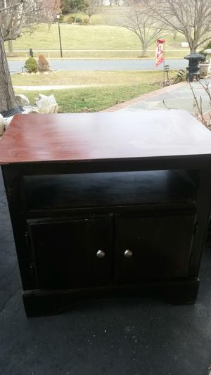 Beautiful solid cherry wood tv stand for Sale in Spencerville, MD