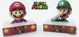 Party Favor Box birthday Gifts Personalized Super Mario for Sale in Margate, FL