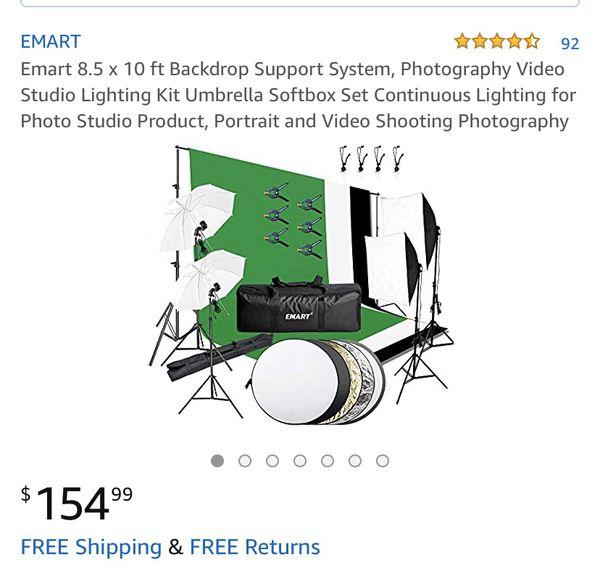 Emart studio lighting and back drop