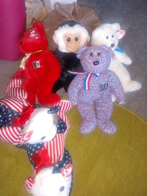 6 larger beanie babies all with tags$10 each for Sale in Alexandria, VA