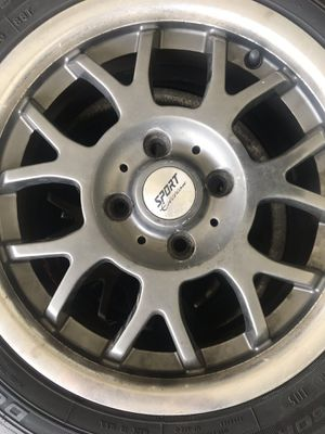 4 CHROME Rims and tires... great tread!! for Sale in Orlando, FL