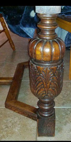 Antique Bavarian Oak Pineapple 🍍 leg Table for Sale in Austin, TX