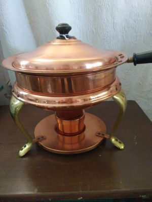 Vintage copper brass chafing dish for Sale in Oak Glen, CA