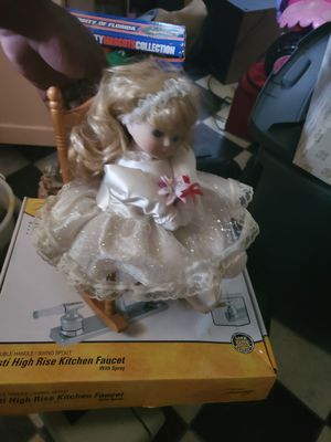 Antique doll in rocking chair for Sale in Groveport, OH