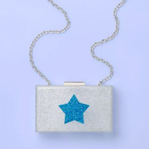 Silver/blue Acrylic Glittery Purse for Sale in Pittsburgh, PA