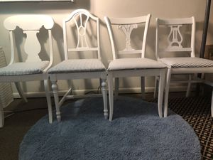 4 antique white chairs from 1900s / unique rare set for Sale in Alexandria, VA