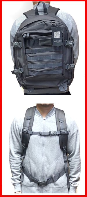Tactical military style Backpack molle camping hiking fishing work gym flag school book travel bag for Sale in Carson, CA
