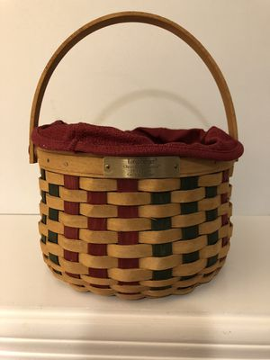 "Longaberger 2003 Limited edition ""caroling"" basket for Sale in Gallatin, TN"