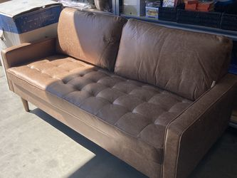 Loveseat 🛋, Light Brown. New. Assembled. Suede Fabric for Sale in Walnut,  CA