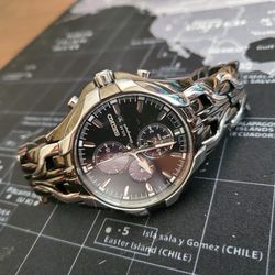Seiko Men Watch SSC139 Excelsior Solar Chronograph Made in Japan Quartz Comes With Extra Links for Sale in Portland,  OR