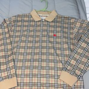 Men's Large Burberry Polo for Sale in Acworth, GA