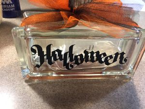 Halloween glass block decor for Sale in Saint Charles, MO