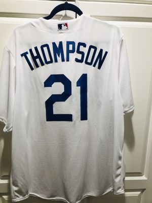 AUTHENTIC Dodgers Large Majestic Trayce Thompson Jersey for Sale in Huntington Beach, CA