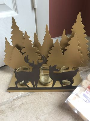 Tree/Deer Candle Decoration for Sale in Fairfax, VA