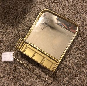 Gold metal wall mirror shelf for Sale in Fountain Valley, CA