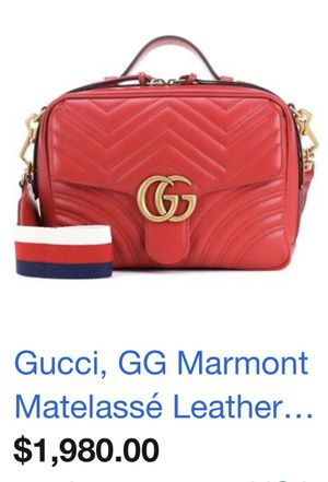 Gucci marmont red leather bag for Sale in Cleveland, OH
