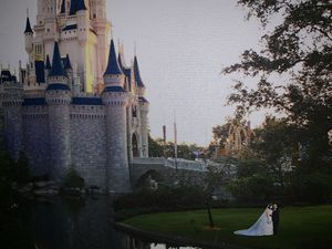Wedding Gown worn at our Disney Wedding for size 14 for Sale in Pembroke Pines, FL