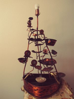 Copper lamp and fountain for Sale in Kingsburg, CA