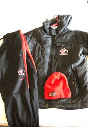 Nike Canadian Hockey Jacket, Sweats and Beanie for Sale in Las Vegas, NV