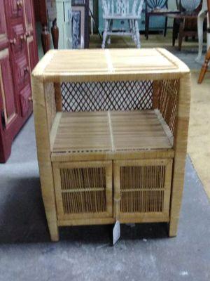 Small tan wicker nightstand for Sale in Philadelphia, PA