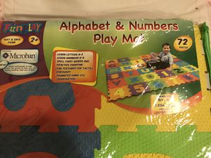 Brand new alphabet and numbers play mat for Sale in Alexandria, VA