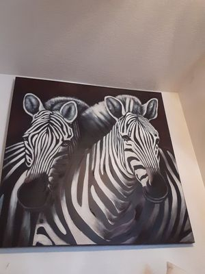 48x48 zebra wall painting for Sale in Tigard, OR