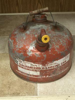 Galvanized Gasoline Can for Sale in Schaumburg, IL