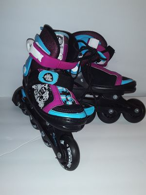 Kryptonics Sparkle childrens inline adjustable skates 10-13...2 pairs $20 each for Sale in Valley Center, KS