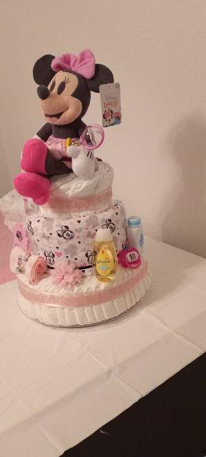 Minnie Mouse Diaper Cake for Sale in Tampa, FL