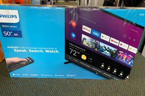 """Brand New Philips TV! 50"""" inch open box w/ warranty T4G for Sale in Kyle, TX"""