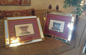"SET 2 Paragon Gallery mirror frame wall Signed artwork 24.5""x20.5"" for Sale in Apopka, FL"