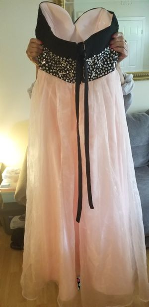Homecoming gown pink with black velvet Small for Sale in Alexandria, VA