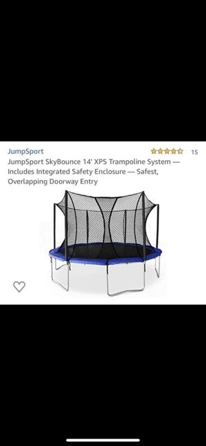 Trampoline Skybounce 14' with safety net - NEW! for Sale in South Miami, FL