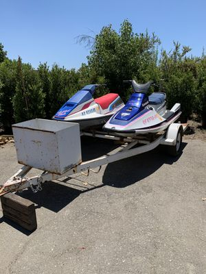 2 jet ski and trailer for Sale in Ontario, CA